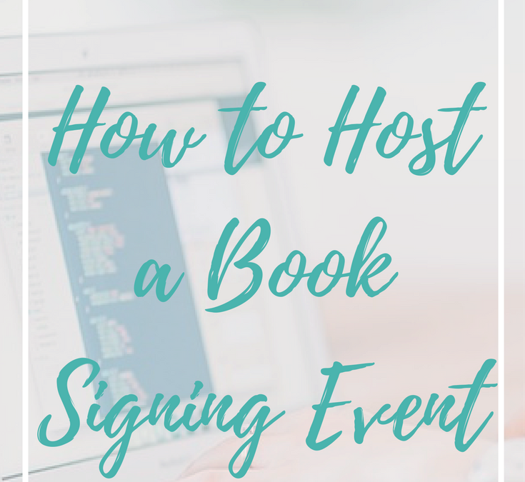 How to host a book signing event